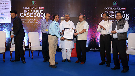 RailTel receives the Certificate of Recognition for implementing IT initiatives